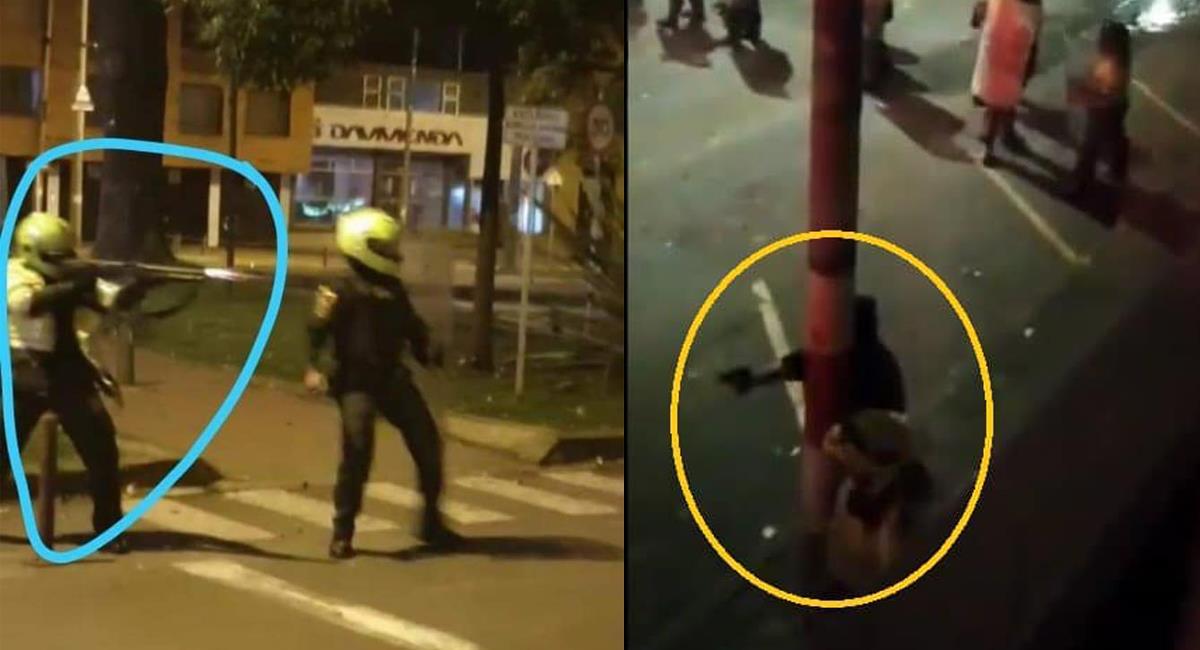 Diferentes videos y fotografías muestran a policías disparando contra la población en las manifestaciones de septiembre. Foto: Facebook Tatu García