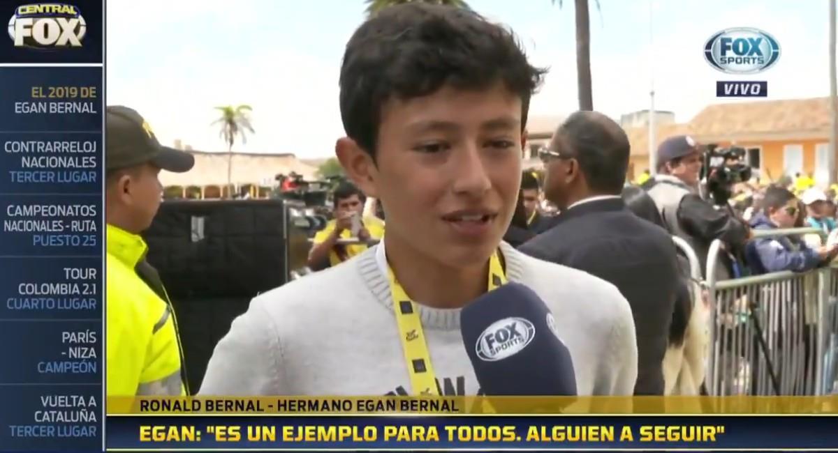Ronald Bernal, hermano de Egan. Foto: Twitter @ESPNColombia