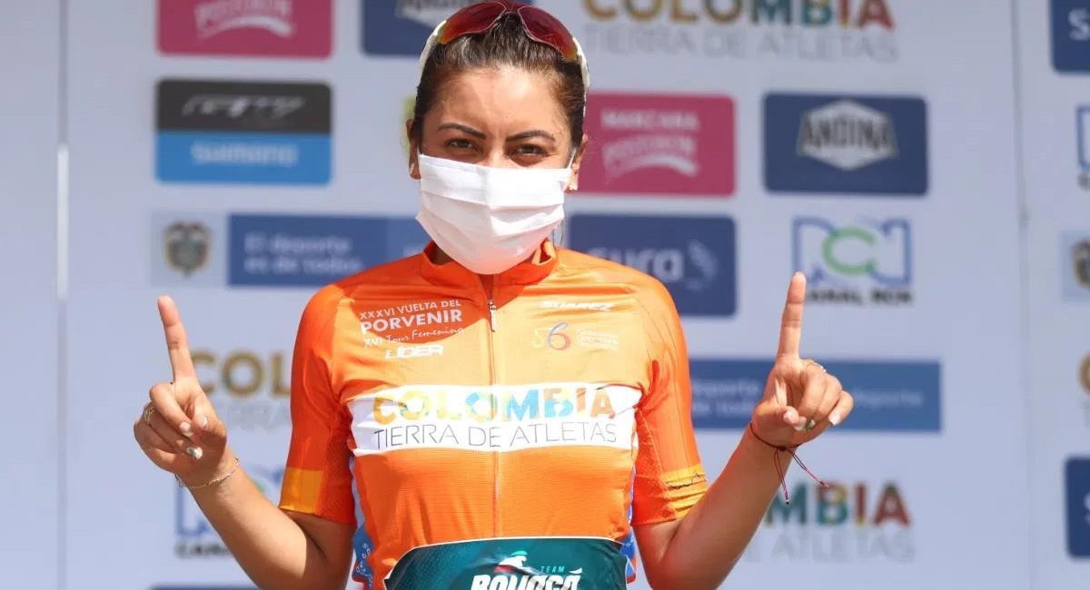 Yeny Lorena Colmenares gana la etapa 2 del Tour Femenino y es la nueva líder. Foto: Prensa Fedeciclismo