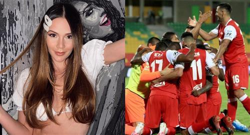 Lina Tejeiro aclara rumores sobre su supuesto romance con un jugador de Santa Fe