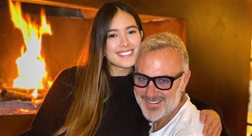 Gianluca Vacchi y su novia revelaron que su hija nació con paladar hendido