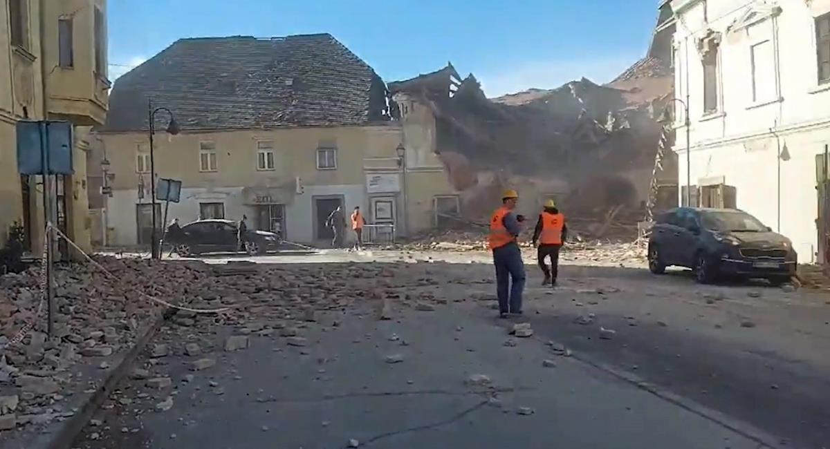 Países vecinos de Croacia también sintieron la magnitud del sismo. Foto: EFE