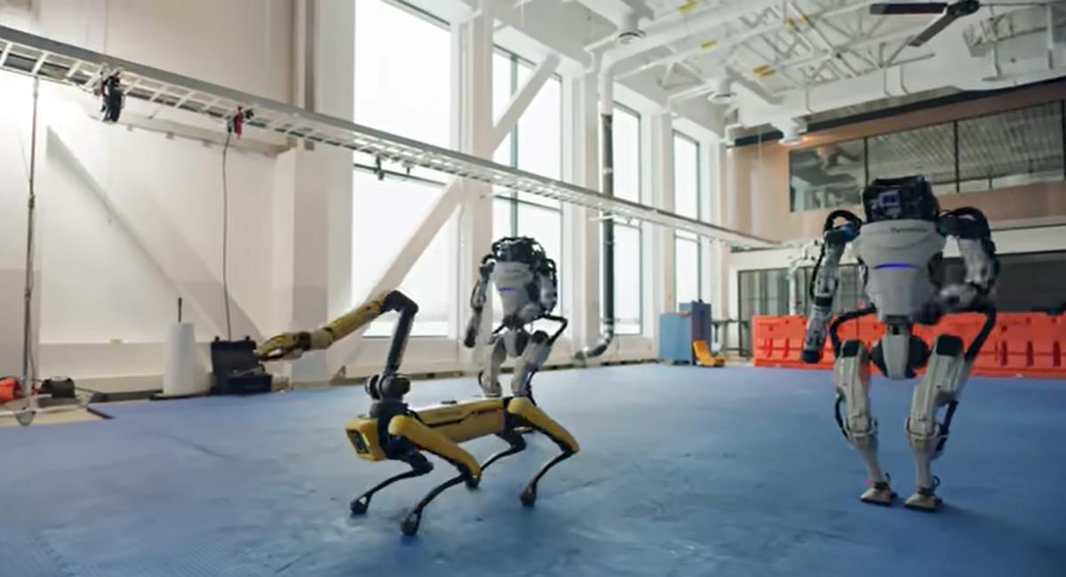 El video de Boston Dynamics con sus robots bailando han desatado temor y fascinación en las redes sociales. Foto: Youtube Captura de pantalla