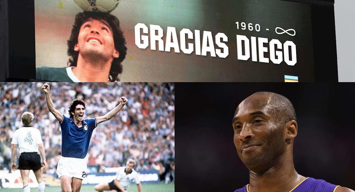 Maradona, Kobe Bryant y Paolo Rossi, tres leyendas que se llevó el 2020