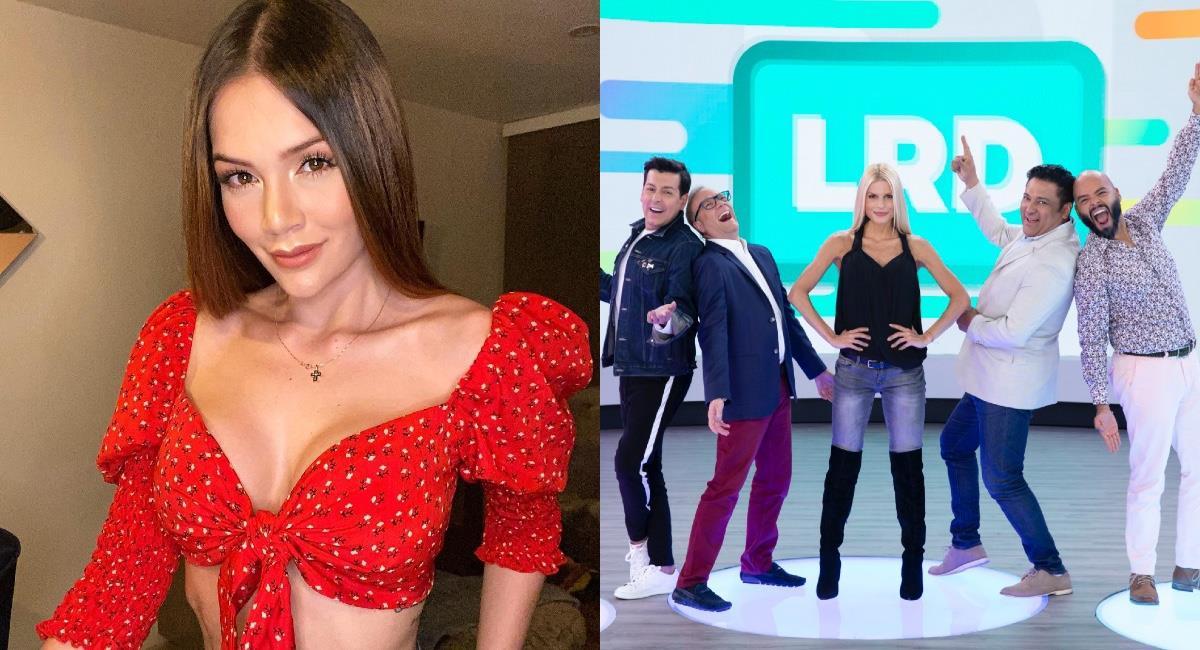 La actriz propuso que finalizaran el programa. Foto: Instagram @linatejeiro/Caracol Televisión.