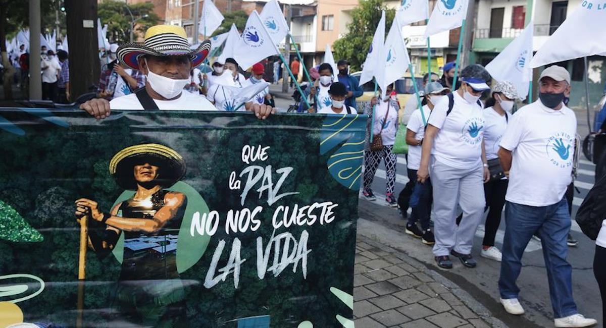 Excombatientes de las FARC piden que se detengan los asesinatos. Foto: EFE