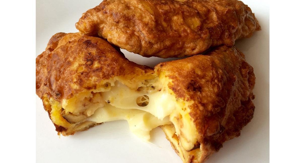 Los 'aborrajados' de queso se sirven bien calientes y son una verdadera delicia. Foto: Twitter @Moominkcals