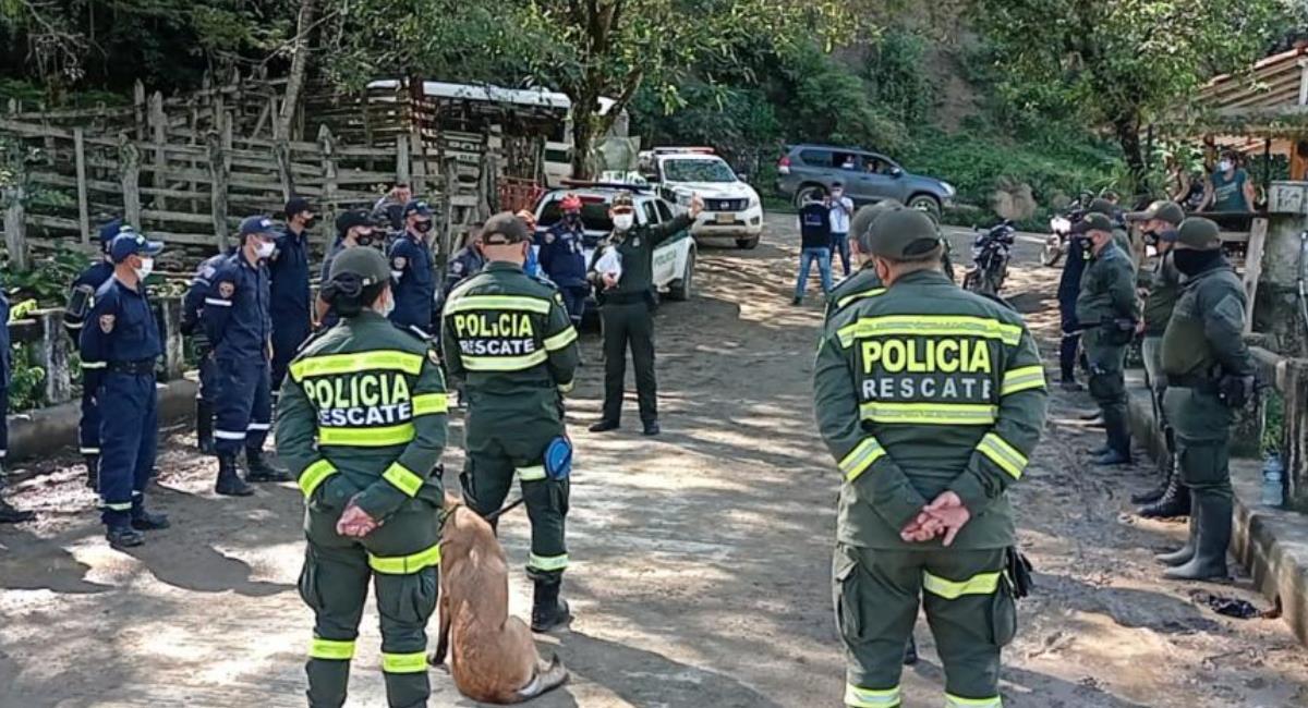 Descubren en un río el que sería el cuerpo de la menor desaparecida. Foto: Policía Nacional