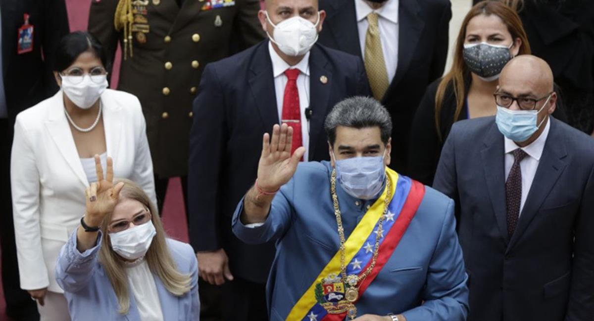 """Nicolás Maduro, en discurso ante la Asamblea Nacional se """"felicitó"""" por su manejo de la pandemia. Foto: Twitter @ElNacionalIRD"""
