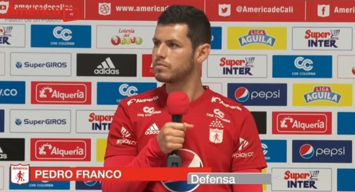 Pedro Franco dejará de ser jugador de América. Foto: Twitter @AmericadeCali