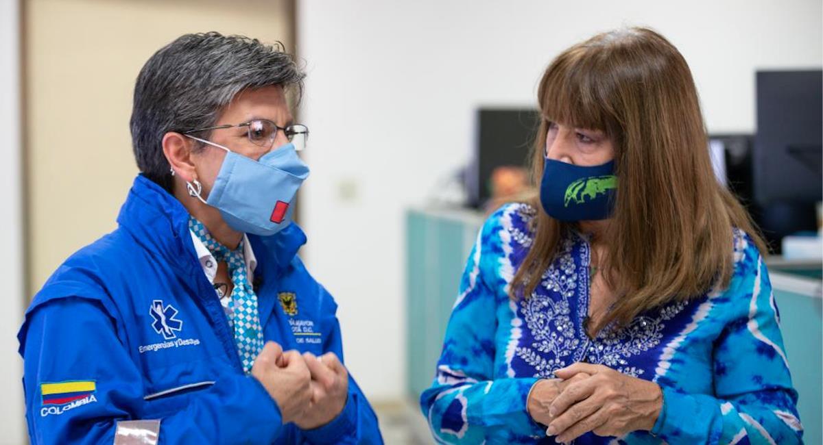 Claudia López explica como se ha manejado el segundo pico de la pandemia. Foto: Alcaldía de Bogotá