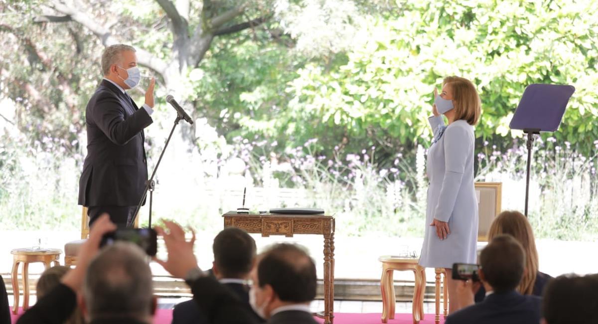 Margarita Cabello se convierte en la primera mujer en asumir este cargo. Foto: Procuraduría General de la Nación