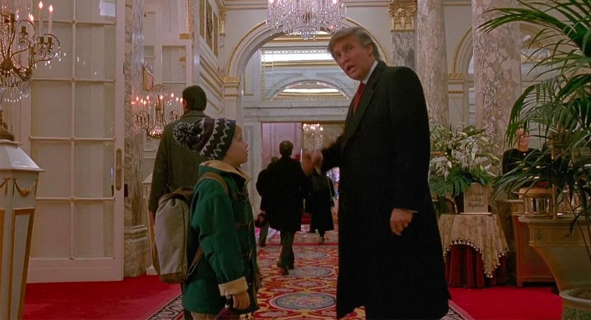 """Donald Trump apareció en un pequeño cameo en """"Mi Pobre Angelito 2"""". Foto: Twitter @ABCNoticiasMX"""