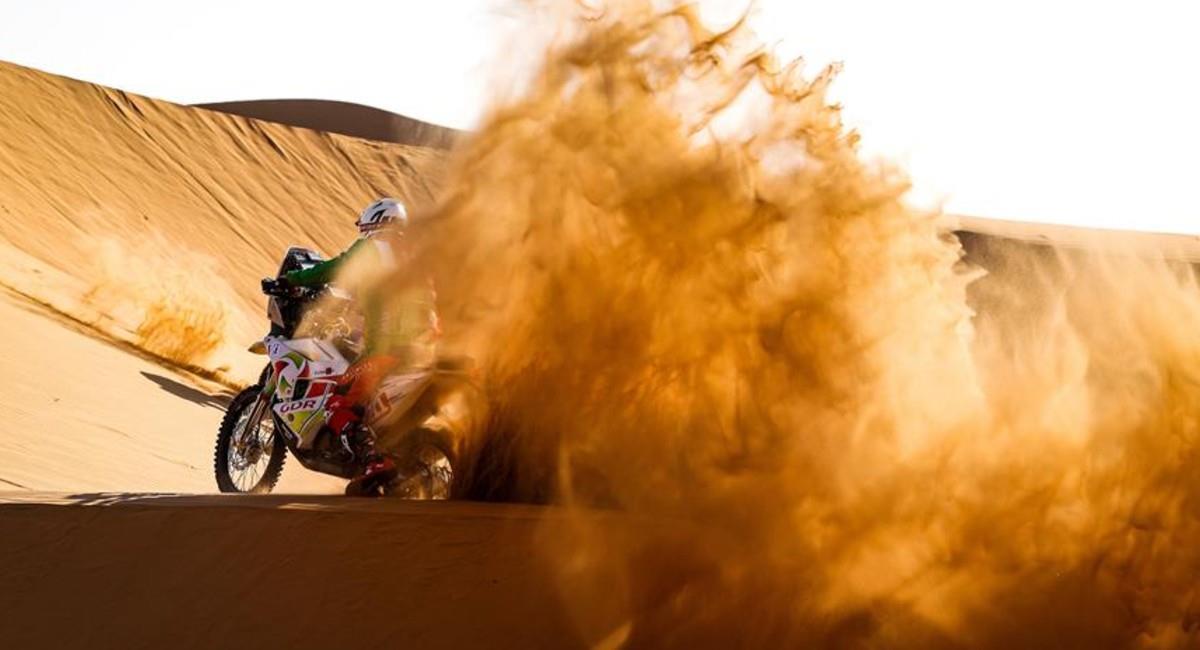 Pierre Charpin en acción en el Rally Dakar 2021. Foto: EFE