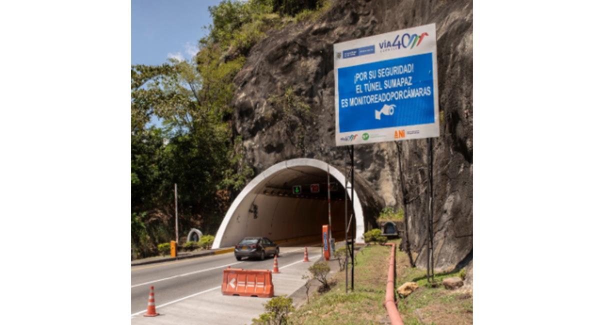 Los cierres se extenderán hasta el próximo 20 de enero, por trabajos en la zona. Foto: Twitter @ANI_Colombia.