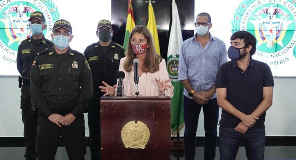 La Vicepresidenta Marta Lucía Ramírez anunció la creación de un cuerpo especial de la Policía Nacional para luchar contra la violencia basada en género. Foto: Facebook @ViceColombia