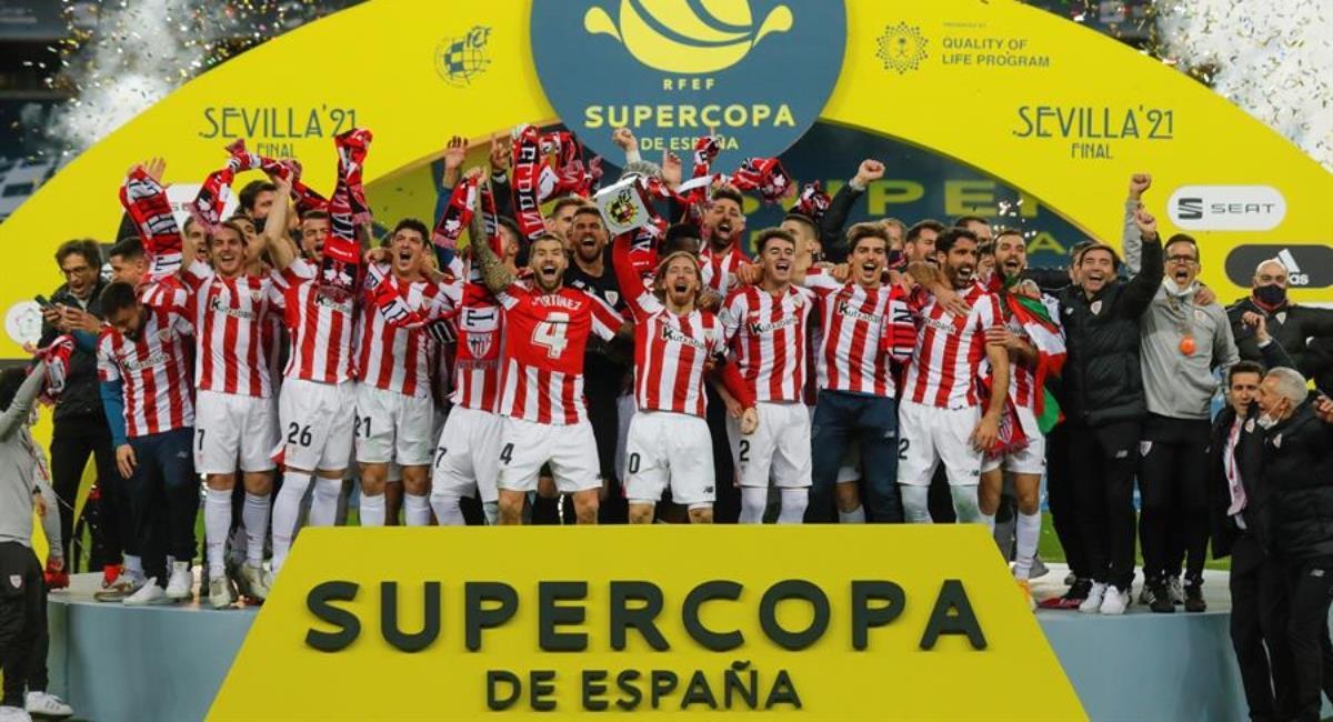 Athletic de Bilbao campeón de la Supercopa de España. Foto: EFE