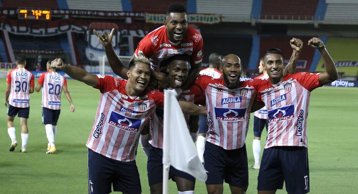 Junior ganó con gol de 'Teo'. Foto: Twitter Prensa redes Dimayor.