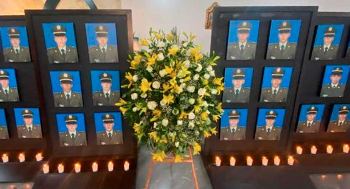 Cadetes fallecidos en el atentado de hace dos años en Bogotá. Foto: Presidencia de Colombia