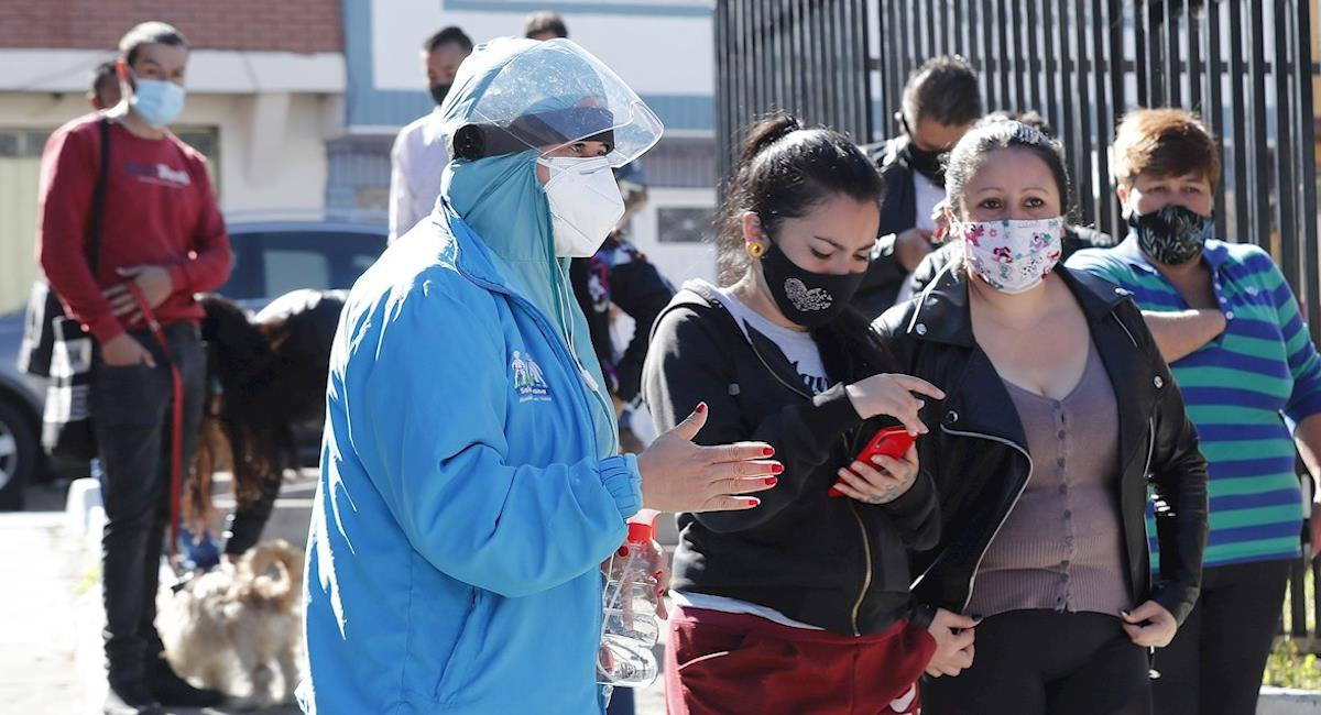 Colombia se ubica en la casilla 12 de los países con más contagios por covid. Foto: EFE