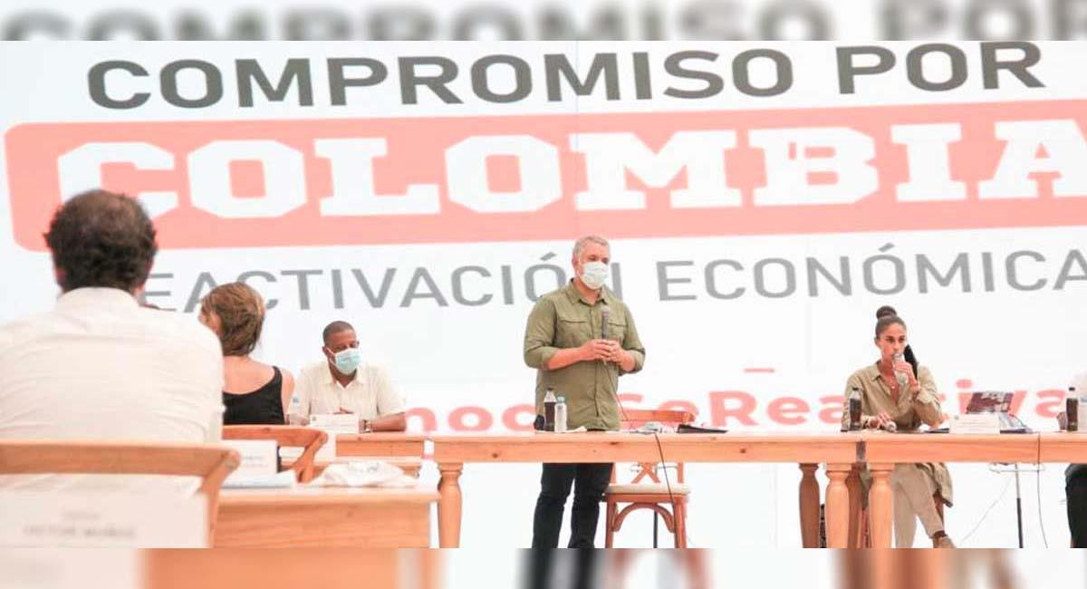 Iván Duque, durante una reunión en el departamento de Chocó. Foto: Presidencia Colombia