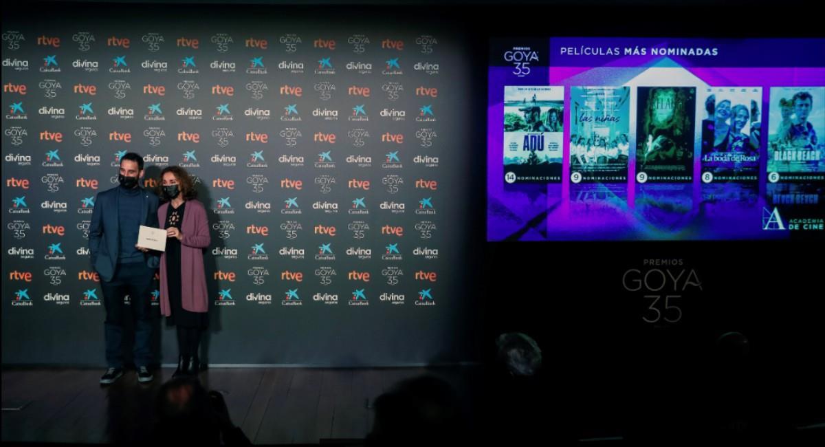 Dani Rovira y Ana Belén fueron los encargados de dar a conocer todas las nominaciones. Foto: EFE