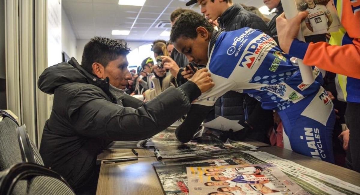 Nairo Quintana es figura del Arkea Samsic y del ciclismo mundial. Foto: Twitter @Arkea_Samsic
