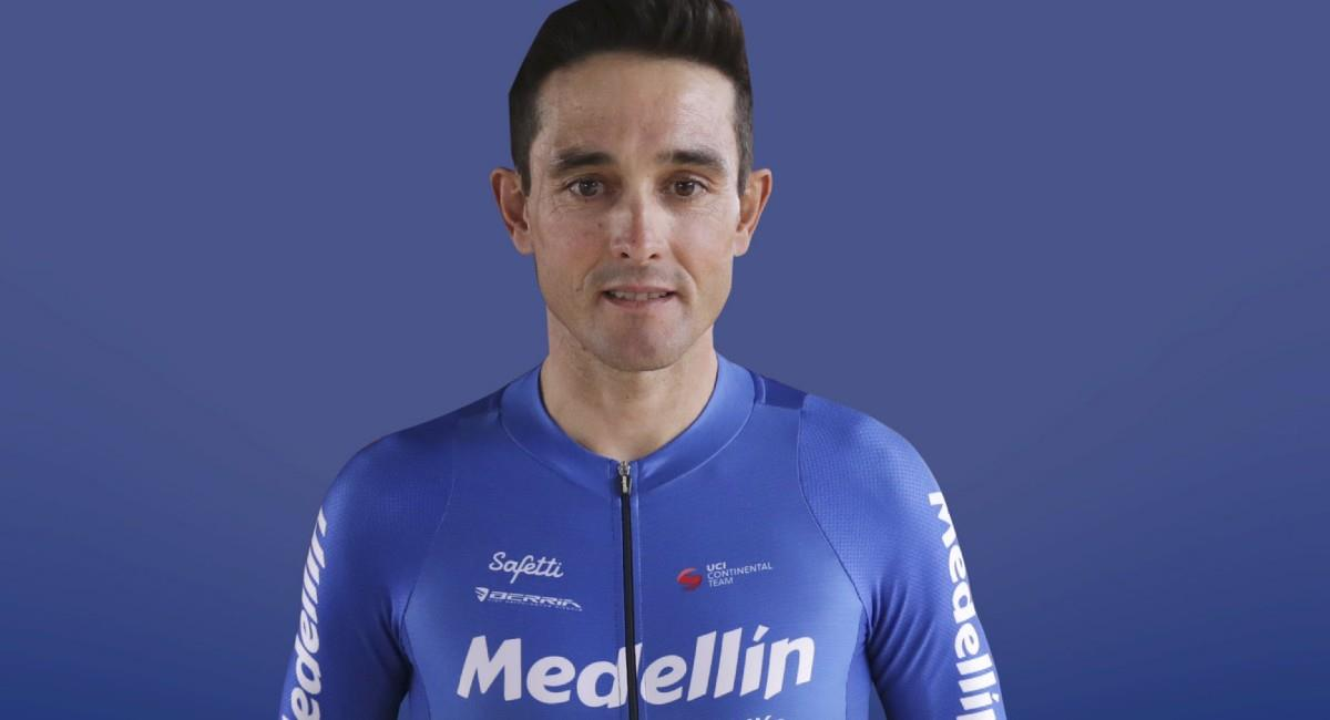 Óscar Sevilla es el mejor corredor del Team Medellín en la Vuelta al Táchira. Foto: Twitter @team_medellin