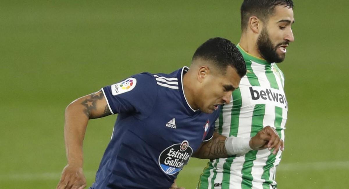 Jeison Murillo se lesionó en el partido ante Betis. Foto: Twitter @RCCelta