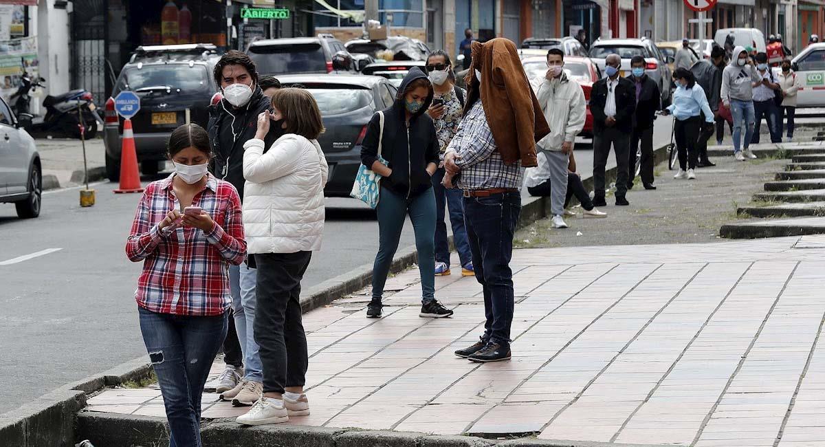 El desempleo en Colombia se sitúo en un 13,3 % en 2020. Foto: EFE