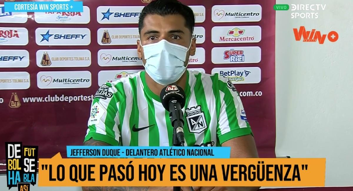 Casi llorando, jugador de Nacional habló de la derrota