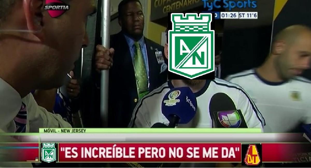 Las burlas hacia Atlético Nacional inundaron internet. Foto: Twitter