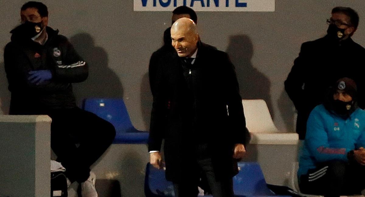 Zinedine Zidane, técnico de Real Madrid. Foto: EFE