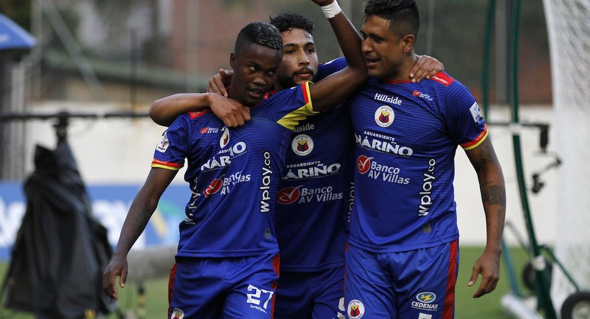 Deportivo Pasto se llevó una gran victoria ante Envigado. Foto: Twitter @Dimayor