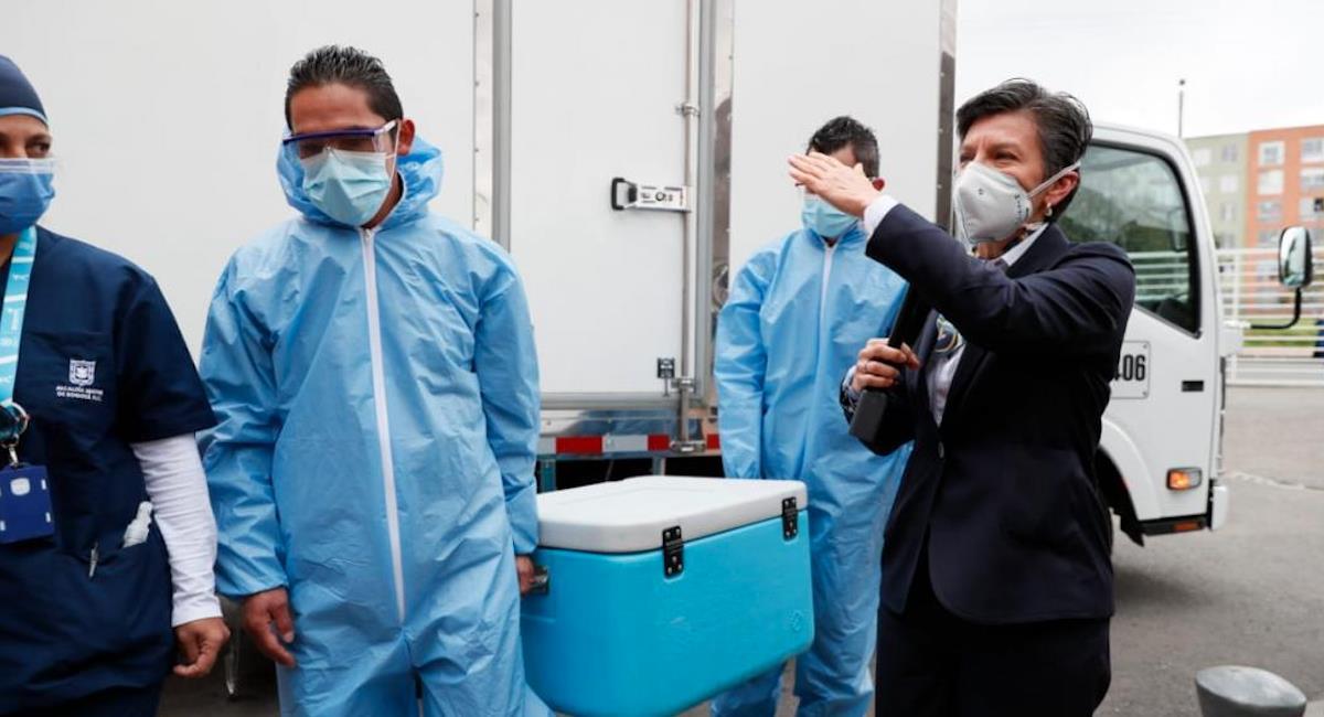 Primer simulacro de vacunación en Bogotá. Foto: Alcaldía de Bogotá