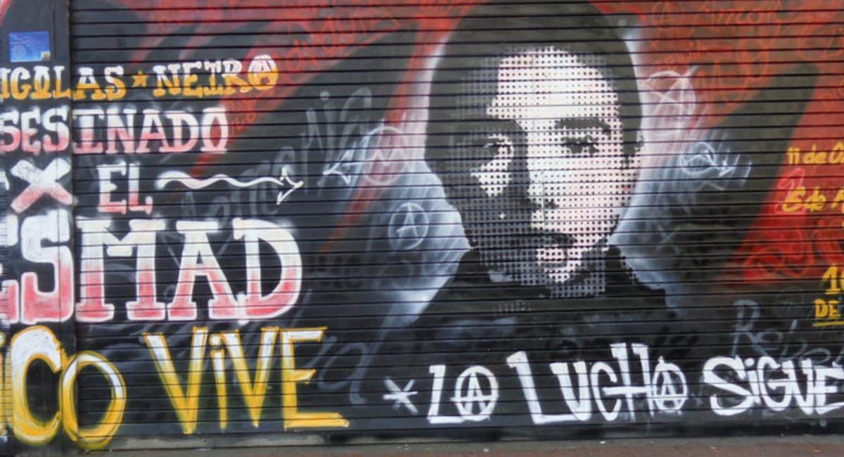 Tras 16 años, agente del Esmad es condenado por muerte de Nicolás Neira. Foto: Twitter @SandraFARC