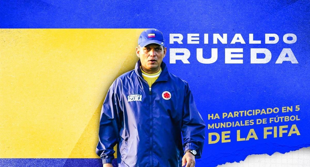 Reinaldo Rueda, técnico de la Selección Colombia. Foto: Twitter @FCFSeleccionCol