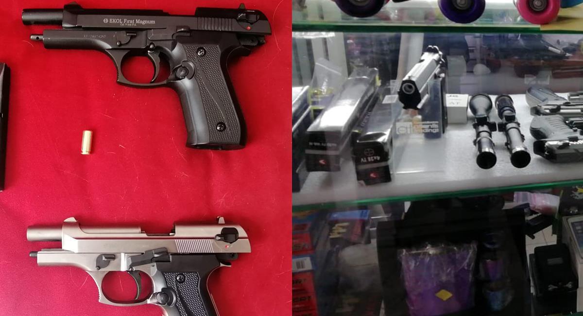 Las armas conocidas como traumáticas pueden ocasionar graves heridas e incluso la muerte y están consideradas como armas de fuego. Foto: Twitter @AlcaldiaBGA/@alcaldiaocana