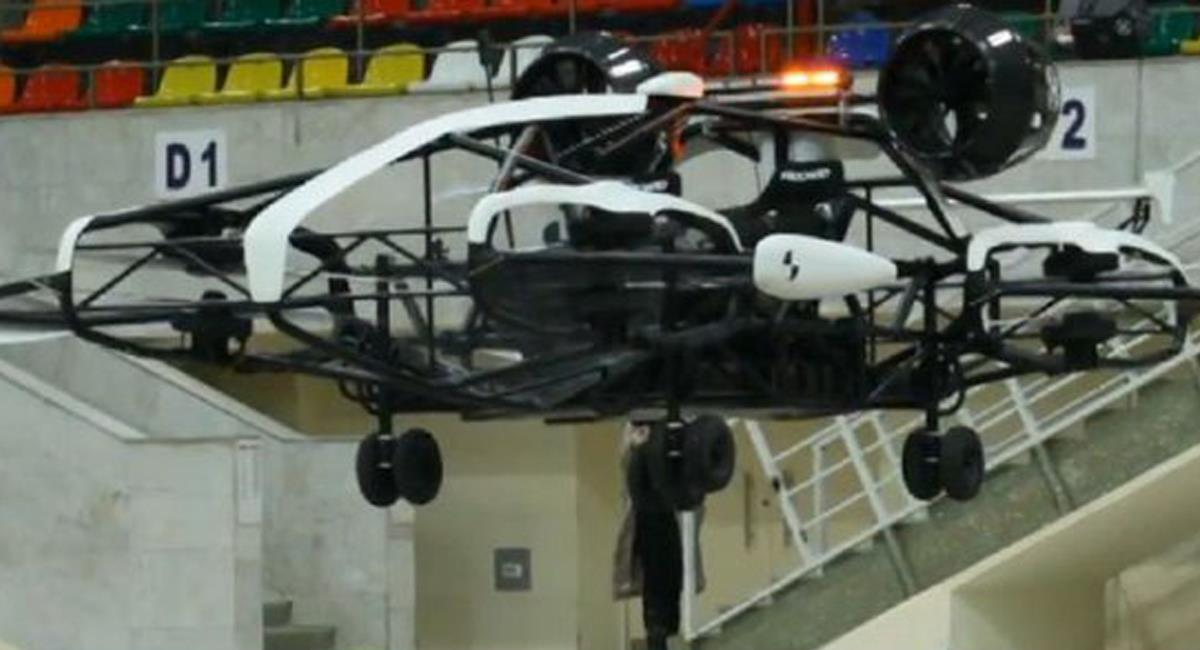 """Los """"Aerotaxis"""" toman como referencia a los drones, solo que esta vez llevarán tripulación. Foto: Twitter @SputnikNews"""