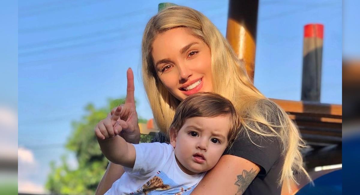 La modelo presume a su hijo todo el tiempo en sus redes sociales. Foto: Instagram