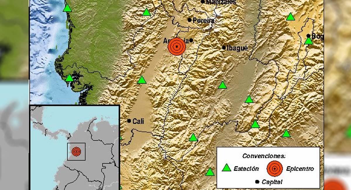 Imagen de referencia del epicentro en Valle del Cauca. Foto: Twitter / @sgcol