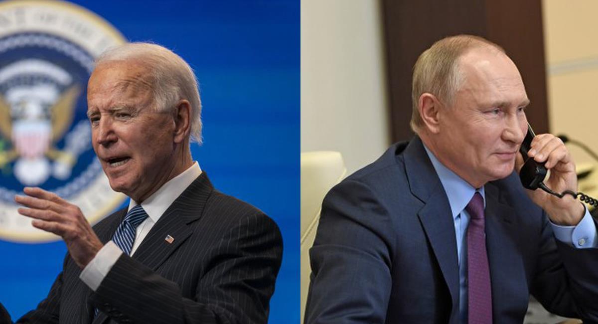 El presidente Joe Biden tuvo su primera conversación con el presidente ruso Vladimir Putin. Foto: Twitter @SenDuckworth/@NPR