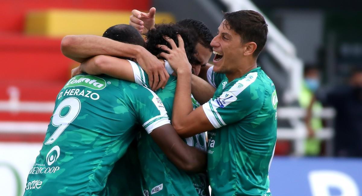 La Equidad logró vencer a Junior en la cuarta fecha de la Liga BetPlay Dimayor. Foto: Twitter @Dimayor