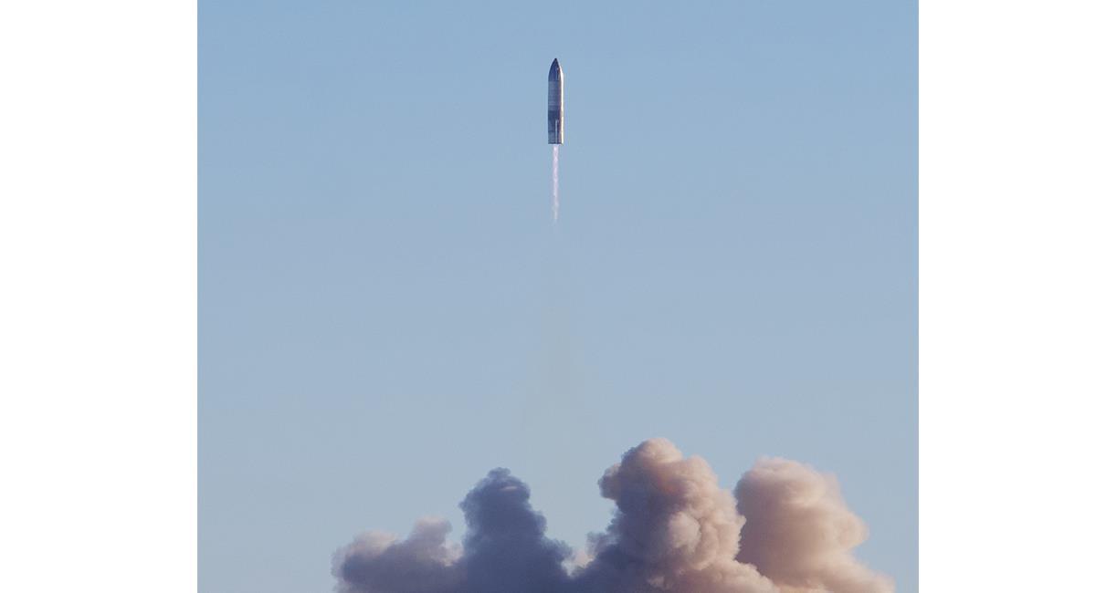 Este segundo prototipo era una nave no tripulada, y todo fue controlado. Foto: Twitter @SpaceX.