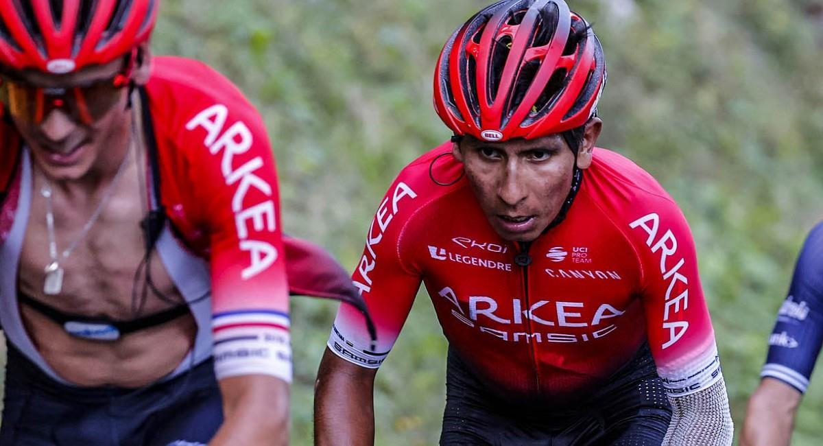 Nairo Quintana, pedalista del equipo Arkea Samsic. Foto: Twitter @Arkea_Samsic