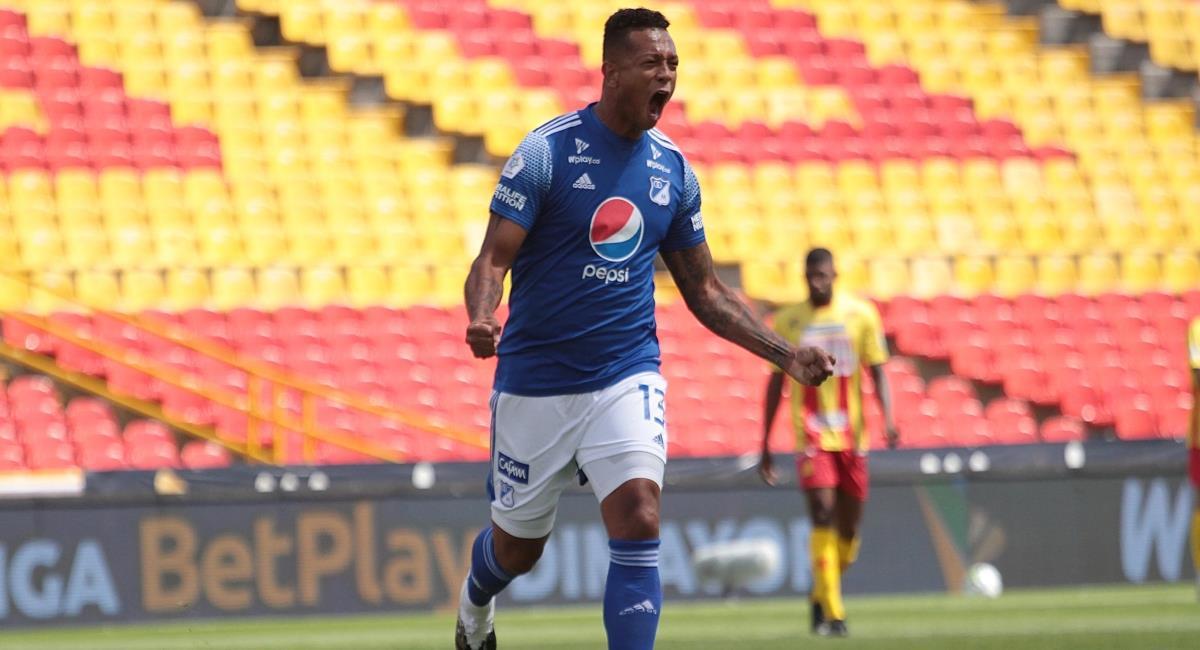 Fredy Guarín marcó su primer gol con Millonarios. Foto: Twitter Prensa redes Dimayor.