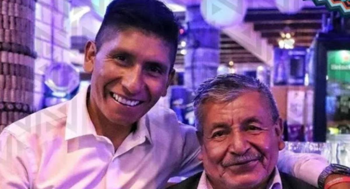 Nairo Quintana habló del estado de su papá. Foto: Twitter Prensa redes Nairo Quintana.