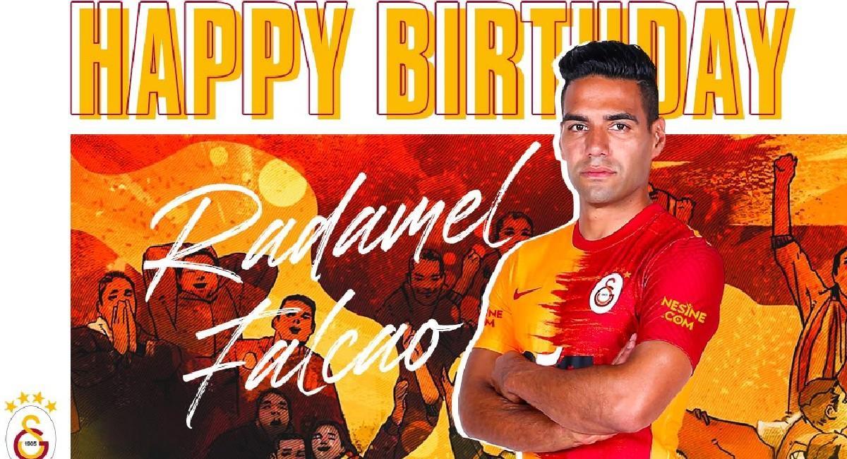 Falcao García está cumpliendo 35 años. Foto: Twitter @GalatasaraySK