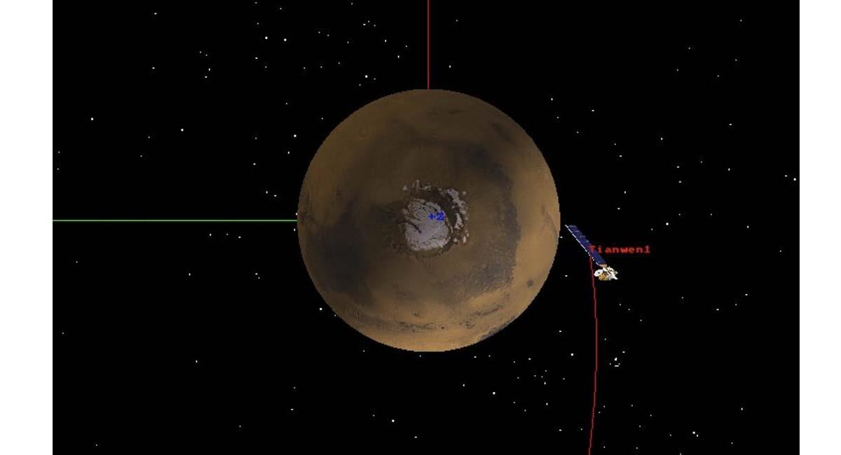La sonda espacial estará investigando el suelo 'marciano' y otras características del Planeta Rojo. Foto: Twitter @CNSA