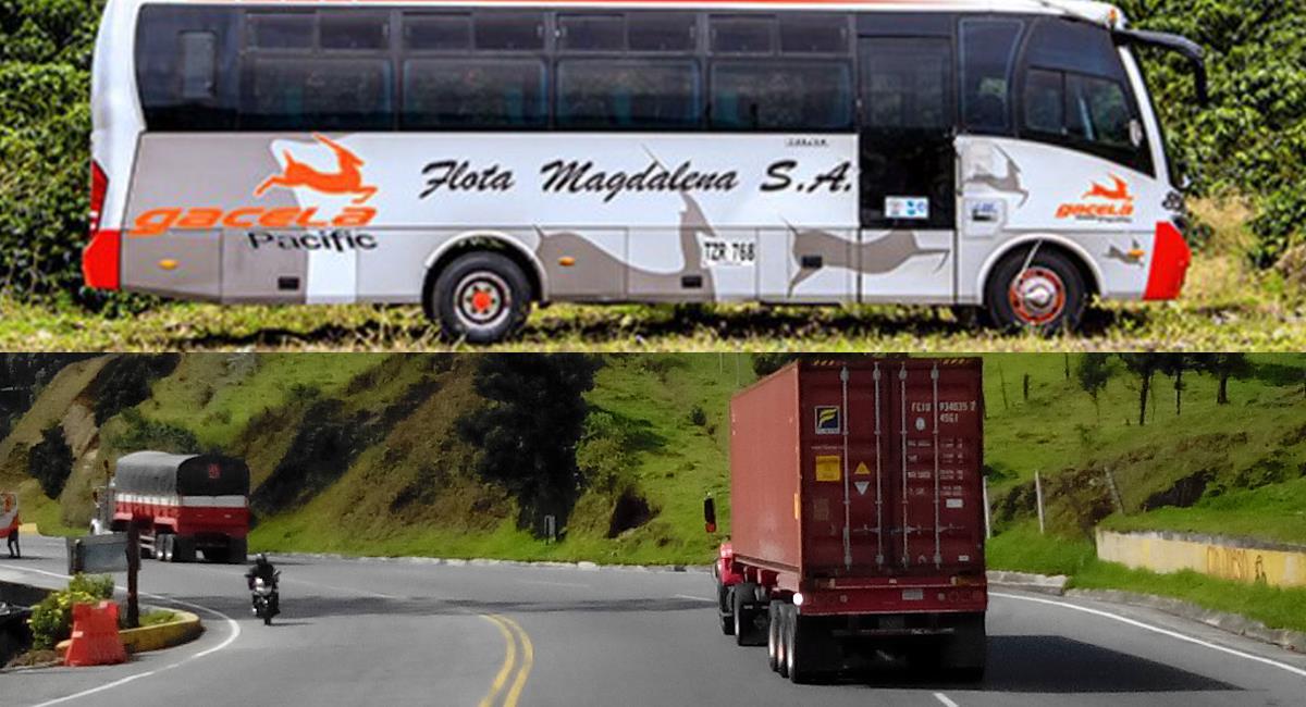 A bordo de un bus intermunicipal afiliado a Flota Magdalena falleció una mujer con síntomas de la COVID-19. Foto: Twitter @alti_col / @infobaecolombia